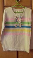 ŚLICZNA biała bluzeczka z kokardkami 6 - 7 lat 122 cm Tania wysyłka