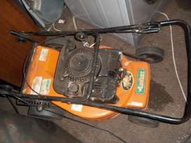 lawnmower and weed eatter and chainsaw