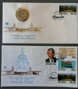1994 Mandela Presidential Inauguration FDC set with Proof R5