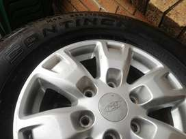 16 inch ford continental tyres and rims for sale