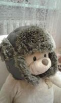 шапка зимняя с ушами плащевка на флисе