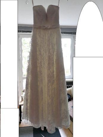 Suknia ślubna ecru r.36/XS/S dla Niskiej Panny Młodej Bydgoszcz - image 1