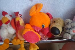 набір мягких ігрушок: мишка, курочка +півник, котик+собачка