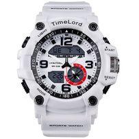Zegarek sportowy biały w stylu G idealny na prezent DUŻY gigant nowość