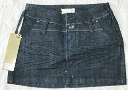 Spódniczka mini jeansowa, rozm. S