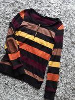 sweter w paski UNI S M