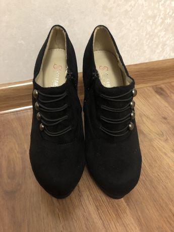 Туфли чёрные замш (искусственный) Одесса - изображение 3