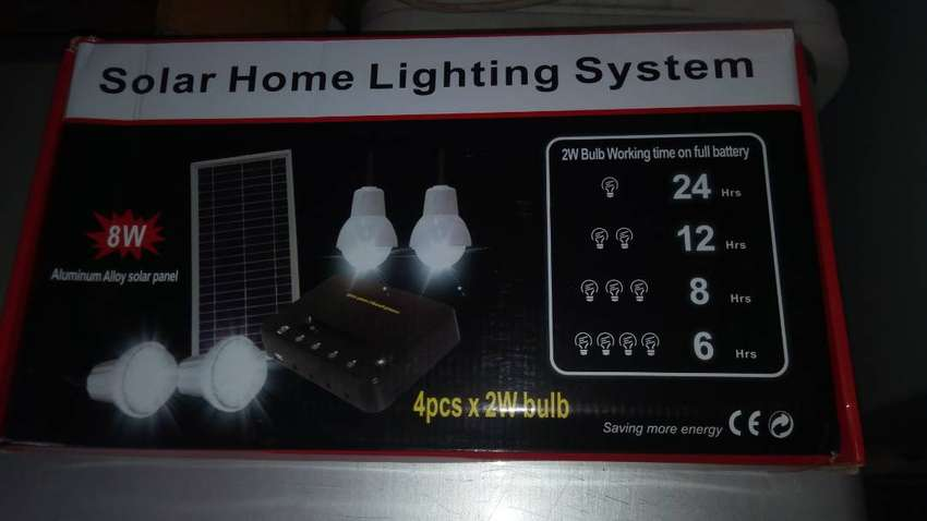 Multifunctional Solar Lighting System. Lighting up 4 rooms 0
