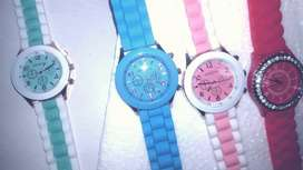 Gifts! 2 for 1 Stunning Ladies Watches- Silicone Strap Various Colours