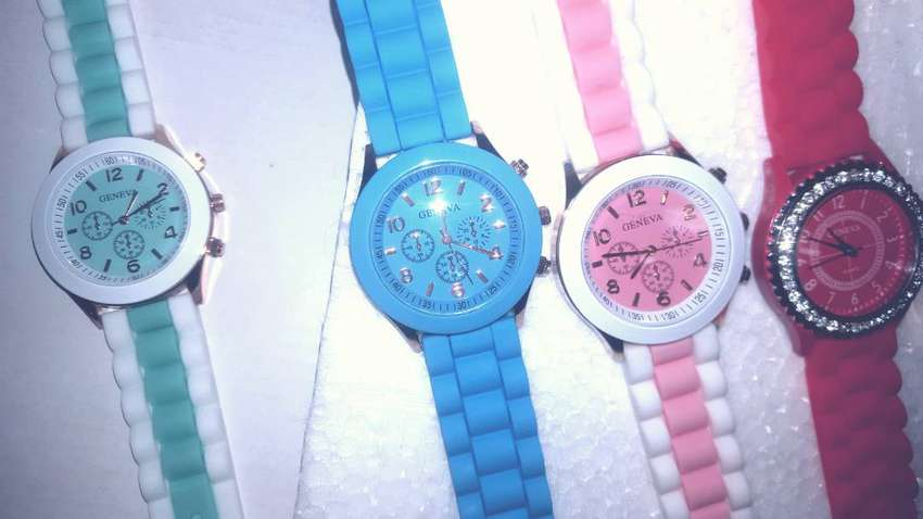 Gifts! 2 for 1 Stunning Ladies Watches- Silicone Strap Various Colours 0