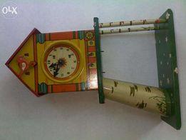 Игрушка детская «Часы (часики) - ходики с боем» ссср 60-е годы