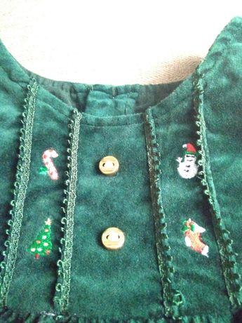 Новорічне платтячко/ велюрова сукня для малечі 0-6міс. Львов - изображение 2