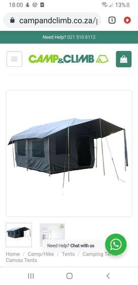 Canvas tents and gazebo