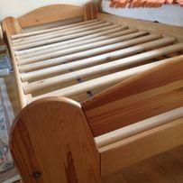 Łóżko drewniane normalne jednoosobowe sosnowe sosna 90x200cm łózka 2