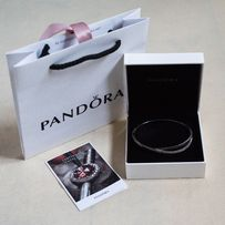Bransoletka PANDORA srebro / cyrkonie sześcienne