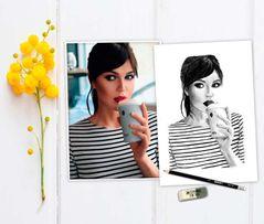 Портрет карандашом по фотографии недорого на заказ
