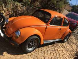 1976 Orange VW Beetle