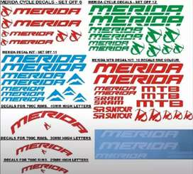 Merida frame and rim stickers decals vinyl cut graphics kits