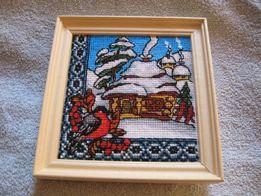 продам картину вышивка крестиком Мальовнича Україна