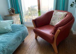 Komplet skórzanych foteli Solano, firmy Meblotap