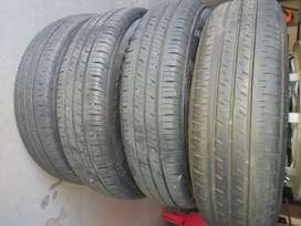 13 inch Kia Picanto rims and tyres with wheel caps