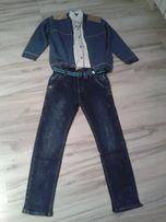 Spodnie ,koszula sweterek na galowo rozmiar 134-140