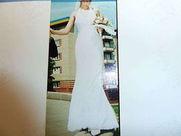 Свадебное белое платье раз.S