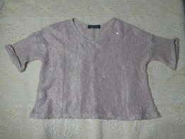 cienki sweterek blady róż r. 10