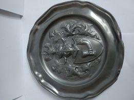 CYNA talerz zdobiony z cyny dekoracja