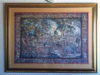 Image of 116 by 95 Tapestry framed (lithograph) pictures