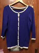Śliczny błękitny kardigan sweter sweterek na guziki XL 40 42 MOhito