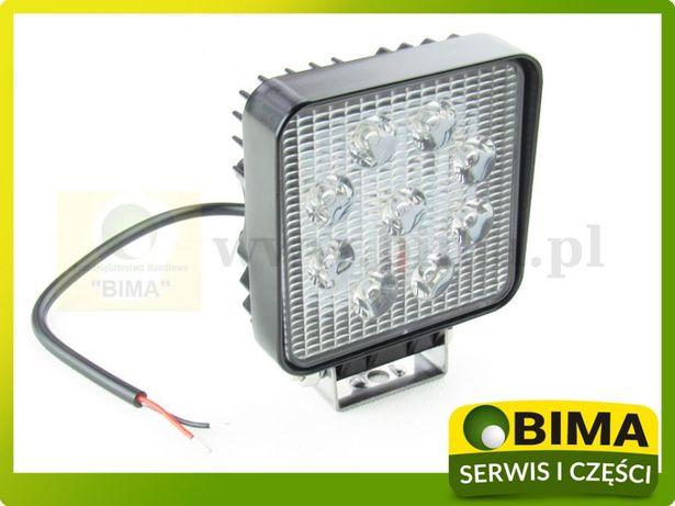 Lampa halogen roboczy 9 LED 27W 12V super cena Turobin - image 2