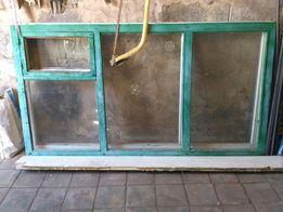 Окно, рама дерево на дачу, пристройку