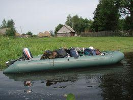 Лодка надувная ПВХ 4,5 * 1,5 м