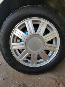 14 inch mag rims and tyres
