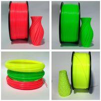 ABS нить 1,75 мм 1 кг неоновые цвета для 3д принтера (АБС пластик)