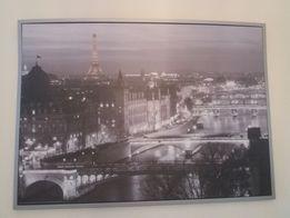 Obraz 100x140 Paryż w srebrnej ramie