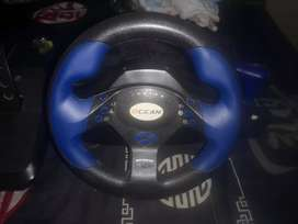 Steering wheel and pedals for pc or playstation