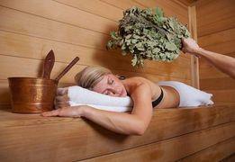 Веничный массаж в бане