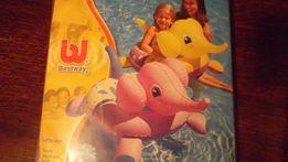 """Жилет, Круг надувной для плавания """"Слоненок""""- розовый и желтый"""
