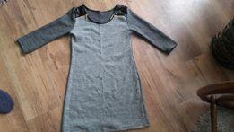 Sprzedam grubą sukienkę, z miłego materiału, rozmiar XS/S