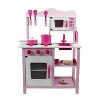 Drewniana Kuchnia Dla Dzieci CLASSIC - różowa