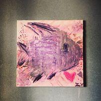 Картина Рыба, сердце, абстракция, лофт, декор, интерьер, Валентинка