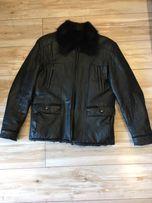 Мужская кожаная зимняя куртка