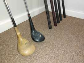 Collectors Vintage golf clubs
