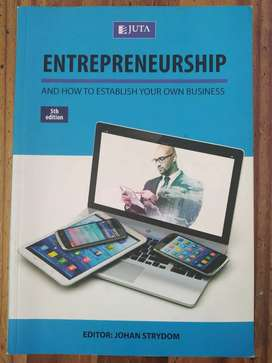 Text book:Entrepreneurship and how to establish your own business