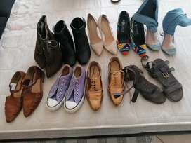 9 pairs of size 3 female Shoes