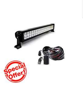 120w Off Road 4X4 Mount On Spot Light Bar & Harness with Remote