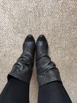 Зимние кожаные сапоги в идеальном состоянии 37