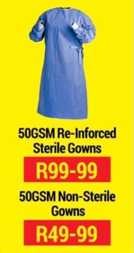 50 GSM Re-Inforced Sterile & Non-Sterile Gowns